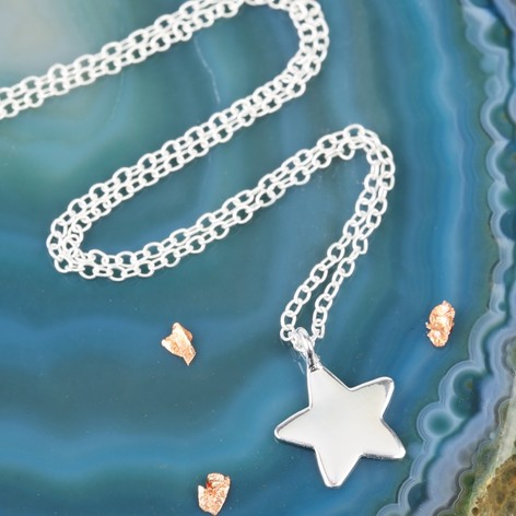 Sterling silver star pendant necklace lisa angel sterling silver star pendant necklace aloadofball Choice Image