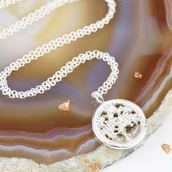 Dainty Sterling Silver Tree of Life Necklace