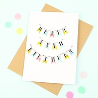 'Happy 18th Birthday' Bunting Card