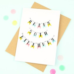 'Happy 50th Birthday' Bunting Card