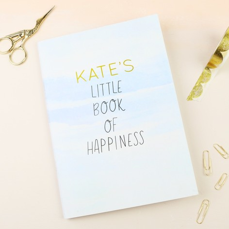 Personalised Pastel Watercolour A5 Notebook