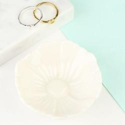 Small White Flower Trinket Dish