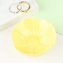 Small Yellow Flower Trinket Dish