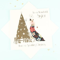 Five Dollar Shake 'To a Wonderful Sister' Christmas Card