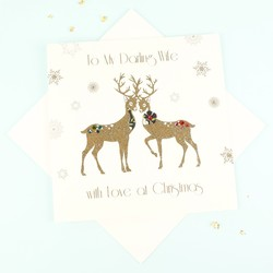 Five Dollar Shake 'To My Darling Wife' Christmas Card