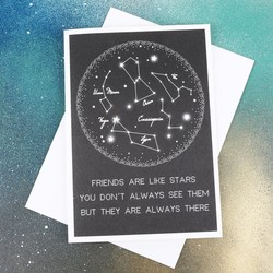 Five Dollar Shake 'Friends Are Like Stars' Starry Night Card