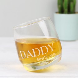 Personalised 'Daddy Since' Whisky Glass