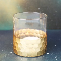 Gisela Graham Gold Hammered Candle Holder