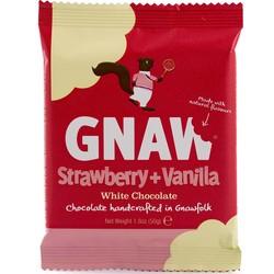 Gnaw Strawberry & Vanilla Mini White Chocolate Bar