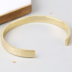 Men's Open Gold Bar Bangle
