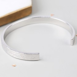 Men's Open Silver Bar Bangle