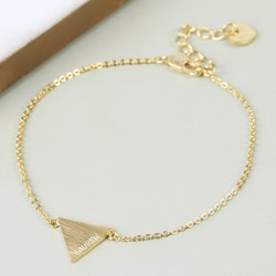 Personalised Gold Triangle Bracelet with Name