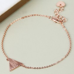 Personalised Rose Gold Triangle Bracelet with Name