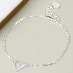 Personalised Silver Triangle Bracelet with Name