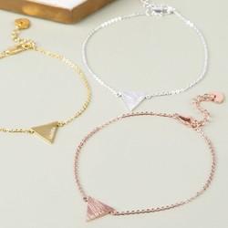 Personalised Triangle Bracelet