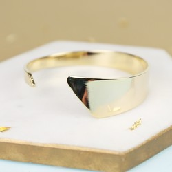 Gold Asymmetric Open Bangle