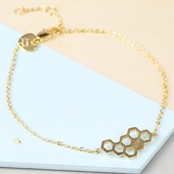 Gold Honeycomb Bracelet