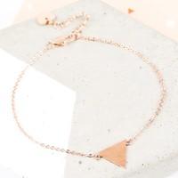 Rose Gold Triangle Bracelet