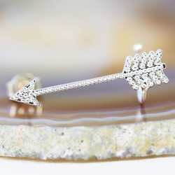 Silver Arrow Ear Cuff