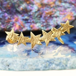 Single Gold Star Ear Cuff