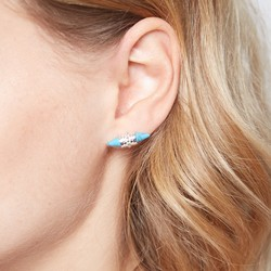Tribal Turquoise Spike Stud Earrings