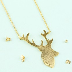 Personalised Stag Necklace