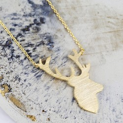 Gold Stag Necklace