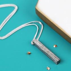 Men's Black Bar Necklace
