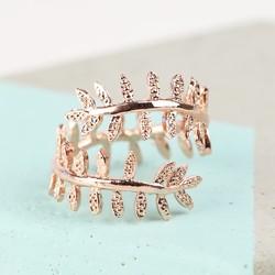 Fern Leaf Ring in Rose Gold