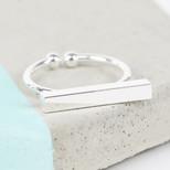 Shiny Silver Bar Ring