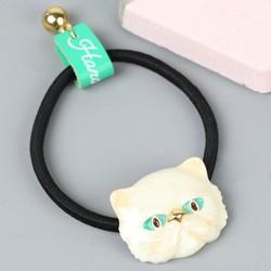 Enamel Ivory Cat Hairband
