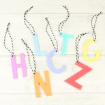 Pastel Acrylic Initial Hanging Decoration