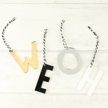 Monochrome Acrylic Initial Hanging Decoration