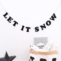 Handmade Acrylic Let It Snow Garland