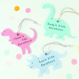 Personalised Acrylic Christmas Dinosaur Hanging Decoration