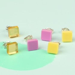 Acrylic Square Stud Earrings