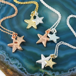 Personalised Double Star Charm Necklace