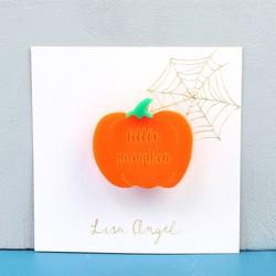 Personalised Pumpkin Halloween Brooch