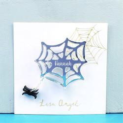 Personalised Spider Web Halloween Brooch