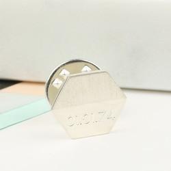 Personalised Sterling Silver Hexagonal Lapel Pin
