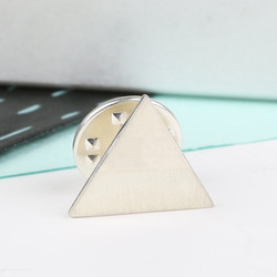 Sterling Silver Triangle Lapel Pin