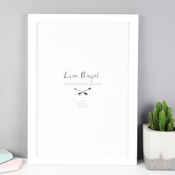 White A4 Print Wooden Frame