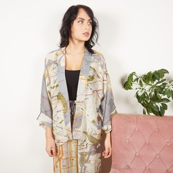 One Hundred Stars New York City Subway Map Print Kimono