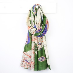 One Hundred Stars New York City Subway Map Scarf in Forest Green