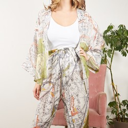 One Hundred Stars London Map Print Palazzo Pants
