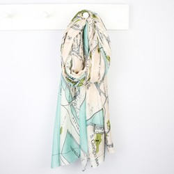 One Hundred Stars Venice Map Print Scarf