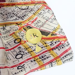 Personalised One Hundred Stars New York City Subway Map Scarf in Wine