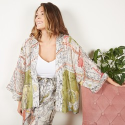 One Hundred Stars Streets of London Print Kimono