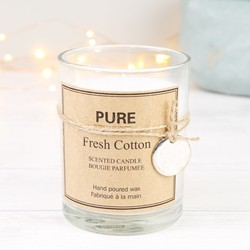 Fresh Cotton Scented Wax Candle