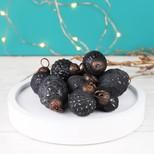 Set of 10 Black Mini Antiqued Decorations